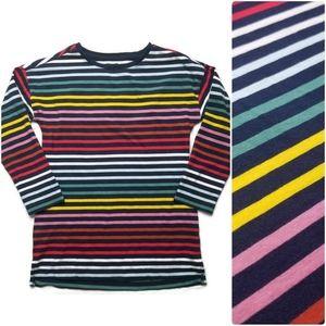 PRIMARY tshirt rainbow stripes 8-9